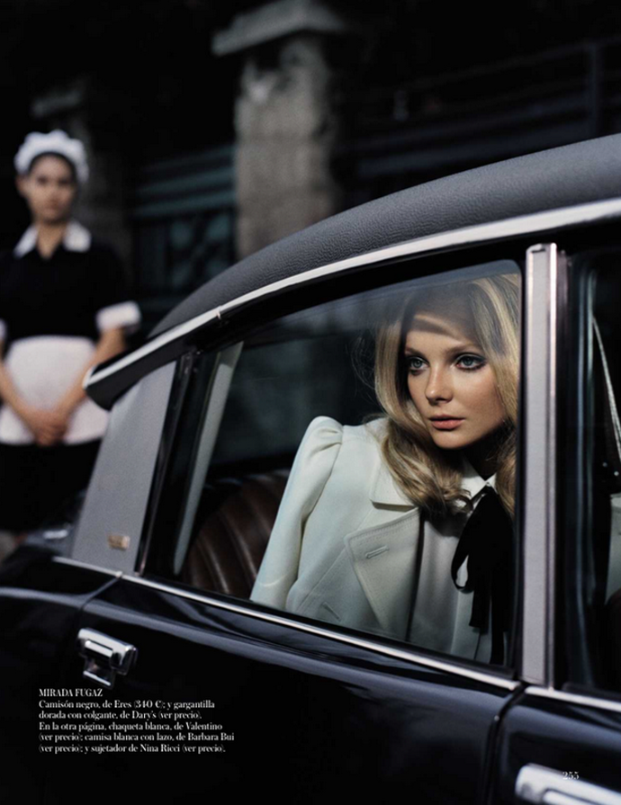 Photo shoot by Vincent Peters for Vogue Spain September 2012 starring beautiful model Eniko Mihalik