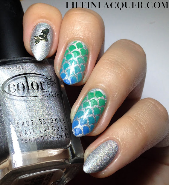 life in lacquer fish scales nail