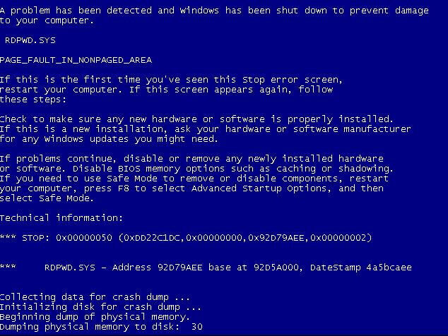 blue death screen