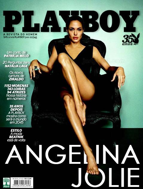 Playboy Angelina Julie Pelada Nua Magazine
