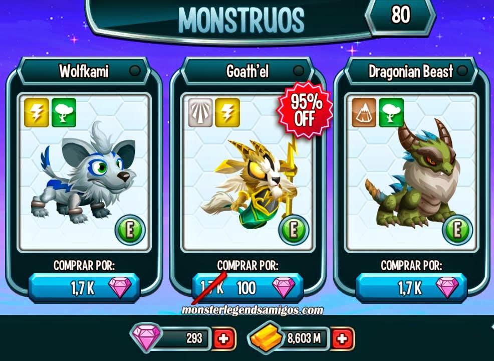 imagen del monstruo goath'el en oferta especial por 100 gemas
