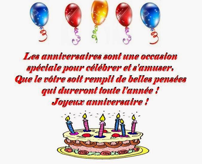 Poème pour dire joyeux anniversaire