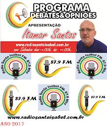 Itamar Santos na Rádio Santa Isabel