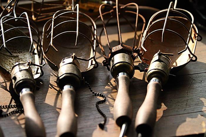 lampara de taller- jaula-vintage de diseño industrial