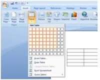 cara membuat table di microsoft word