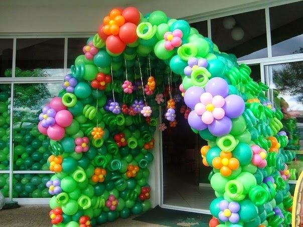 Arcos en globos paso a paso imagui for Decoracion de globos para fiestas infantiles paso a paso