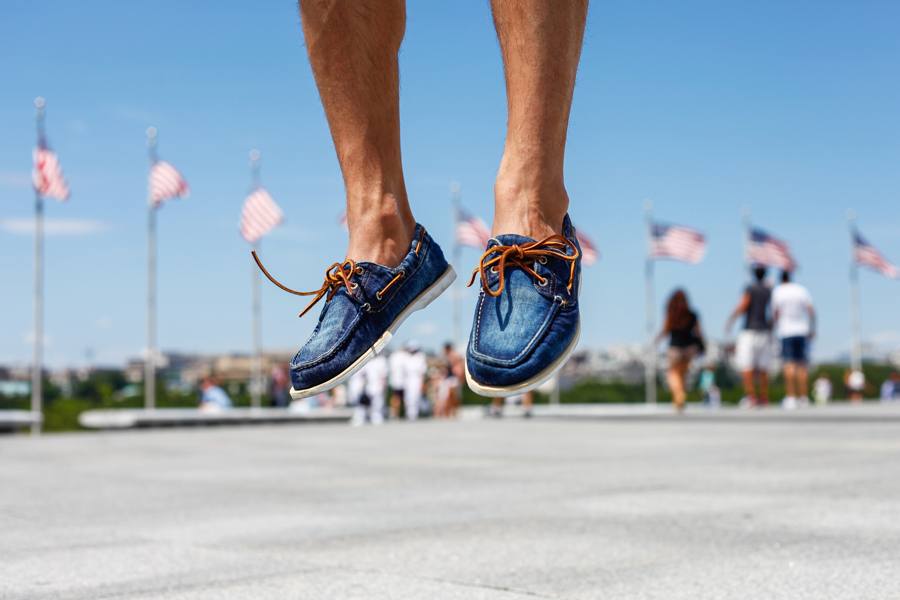#WhereUNIQLO Levitate Style Washington DC | Summer Style Travel feat. Uniqlo, Timberland Denim Boat Shoes, Washington Monument, Menswear