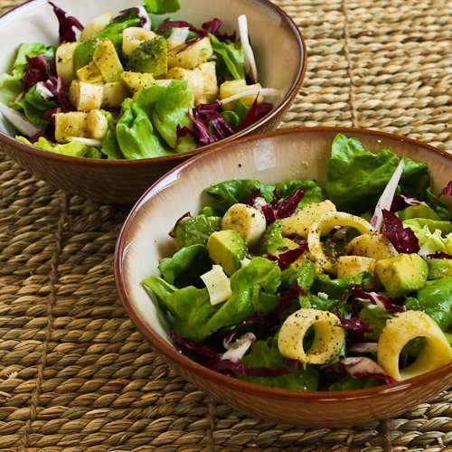 Rich Salad with Hearts of Palm , Avocado, and Radicchio