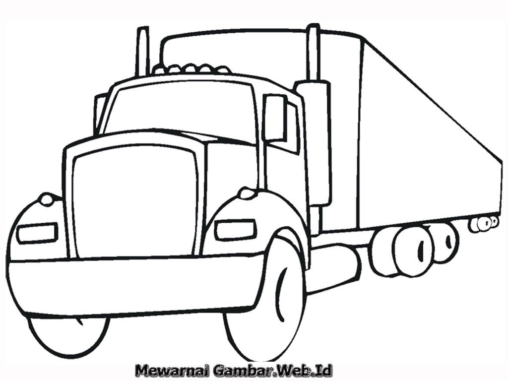 mewarnai gambar gratis telah menyiapkan 10 buah gambar mobil truk ...