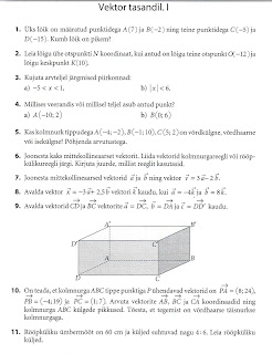 Заметки учителя математики Контрольная работа в классе по  текст из сборника matemaatika kontrolltood 10 viia keeru egle zoo