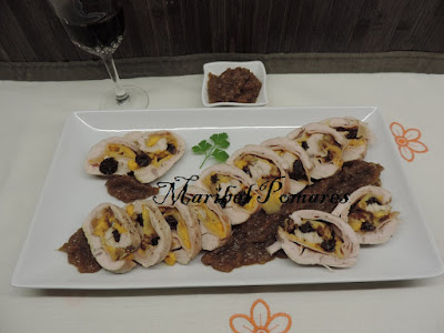 Pechuga De Pavo Rellena Con Cebolla Caramelizada.