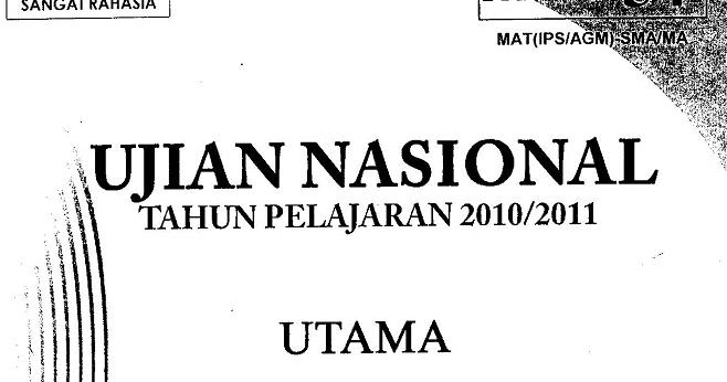 Matematika Di Sma Soal Ujian Nasional Matematika Ips Sma Ma 2011