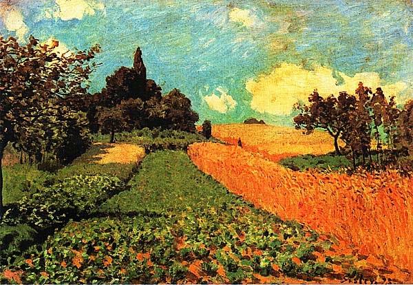 Альфред Сислей. Пшеничные поля в Аржантейе. 1873.