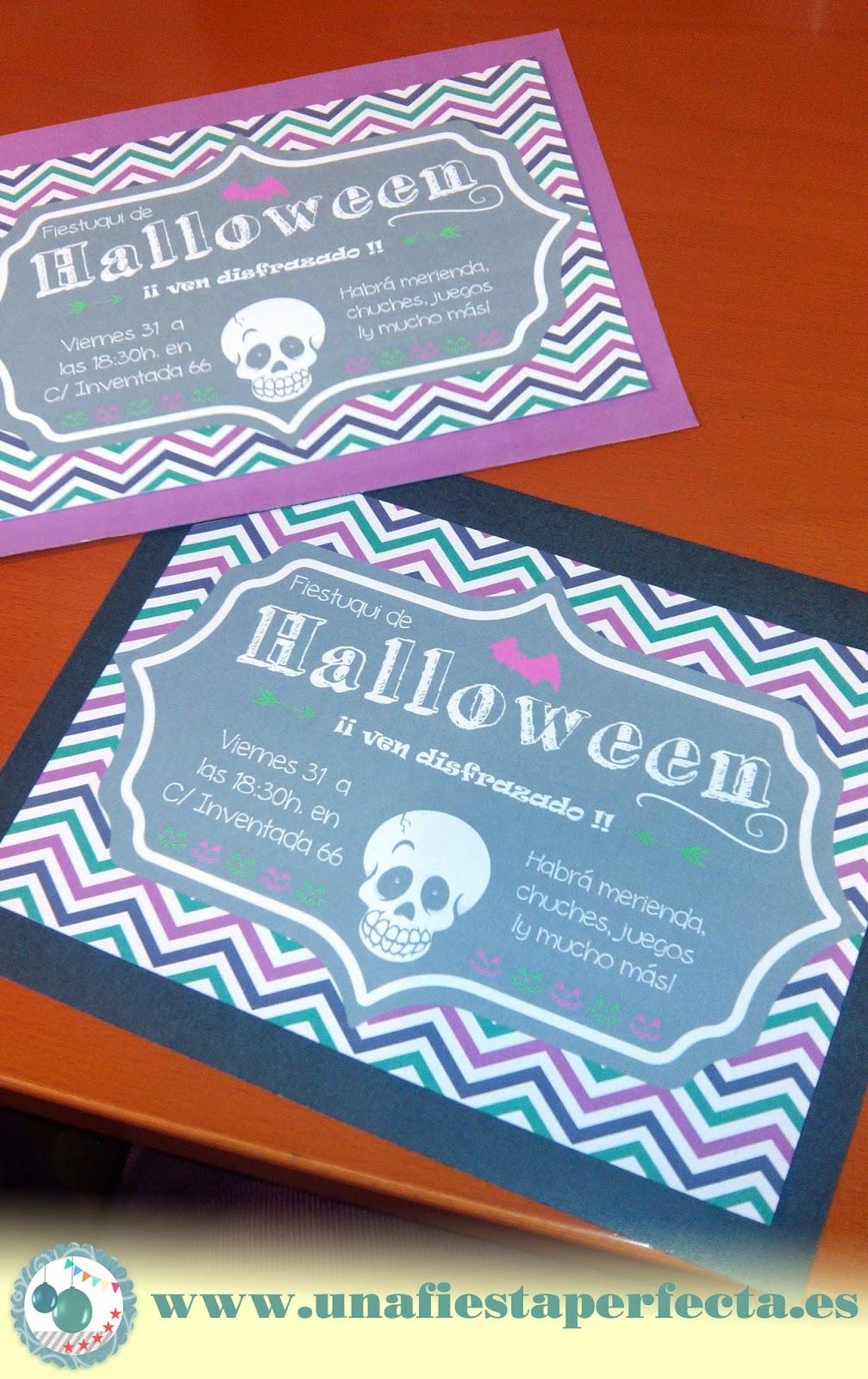 Invitación Fiesta Halloween - unafiestaperfecta.es