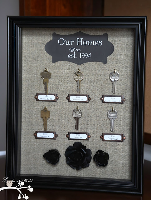 Home Keys Shadow Box