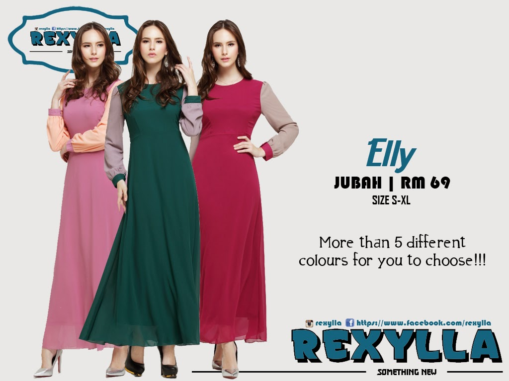 rexylla, joint colour, jubah, elly collection