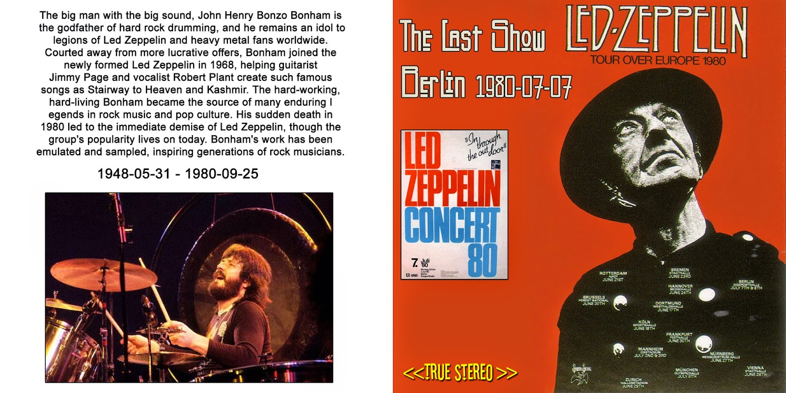rockliquias led zeppelin the last show berl n 07 07. Black Bedroom Furniture Sets. Home Design Ideas