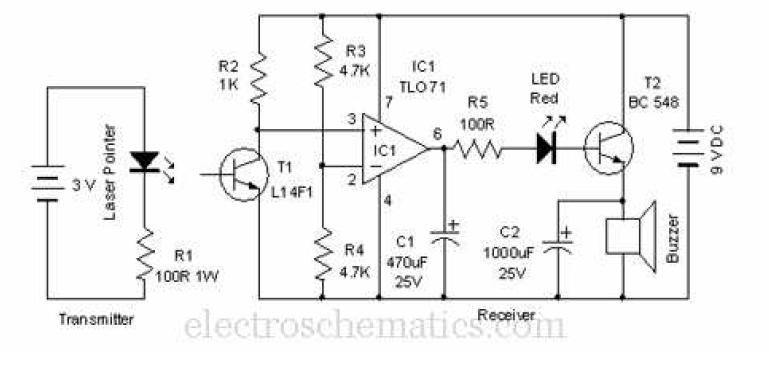 Electrocircuits Blogspot Com Laser Door Alarm Circuit