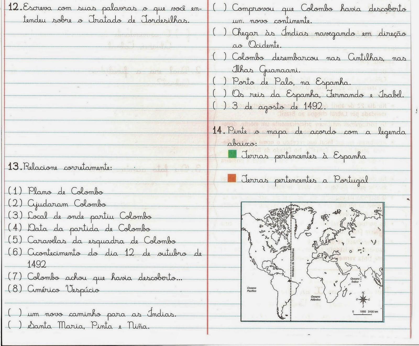 Prova de geografia 4 ano