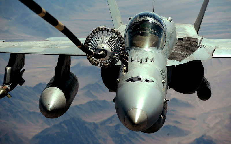 Navy FA-18 Refueling by KC-135
