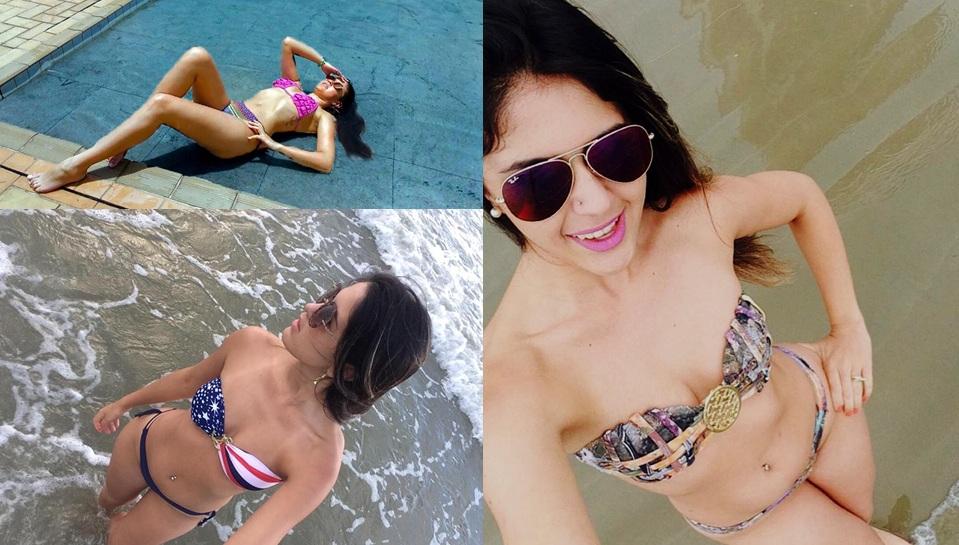 A modelo Dayane Colombo mostra porque é a Rainha das Praias do Paraná 2017