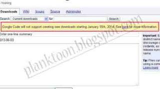 Google Code Akan ditutup Tanggal 15 Januari 2014