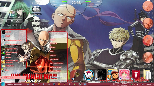 / theme windows 7 / one punch man 1