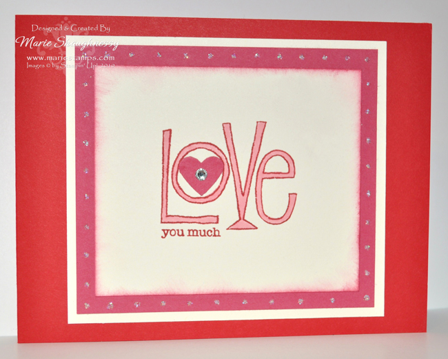 Stamp Sets Love You Much 113756 2595 Card Stock Real Red Regal