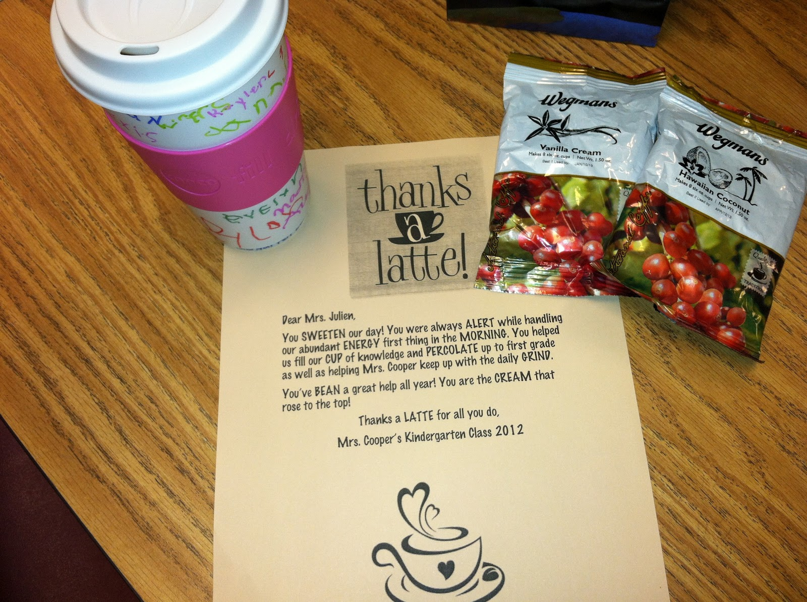 Thank You Gifts For Parents Ideas : ... thank you note; it turned out great :o) You can grab your editable