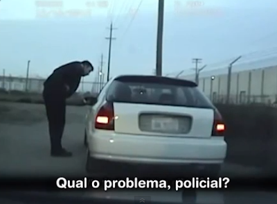 Policia maltrata motorista Negro