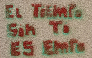 """El """"tiempo"""", sin """"ti"""", es """"empo""""."""