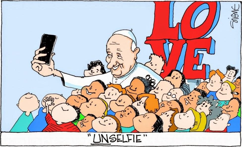 Signe: Pope UnSelfie.