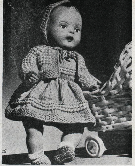 The Vintage Pattern Files: 1960s Knitting - Dolls Clothes