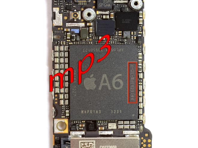 Iphone5 Motherboard Layout With Parts Definition