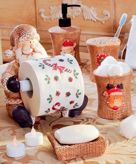 Mais um Beijo Banheiro decorado para o Natal -> Banheiro Decorado Para Natal