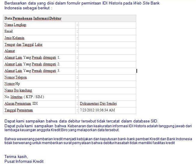 email dari bank indonesia