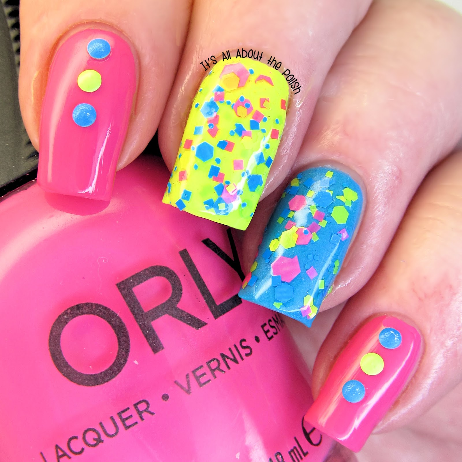 It\'s all about the polish: Summer Neon Nails