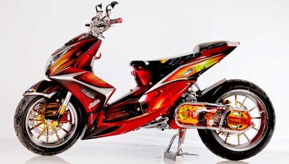 Gambar Modif Motor Yamaha Mio Modifikasi Keren Terbaru