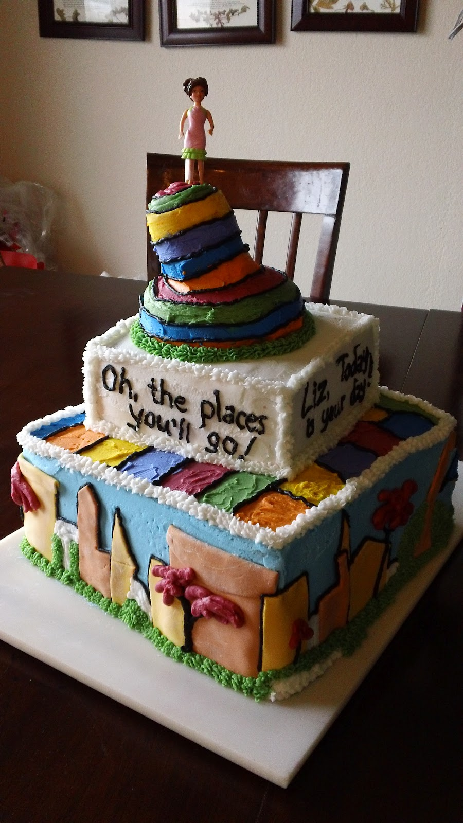 Cassie Green Cakes Dr Seuss Birthday Cake