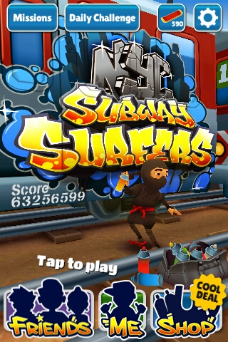 Subway Surfers with Unlimited Coins + Highscore