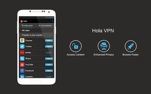 برنامج البروكسي المجاني هولا في بي ان للاندرويد - Hola VPN APK