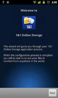 1&1 Online Storage App