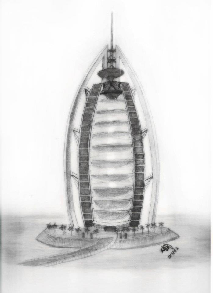 Osama Drawings رسم برج العرب