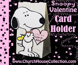 Snoopy Valentine Card Holder