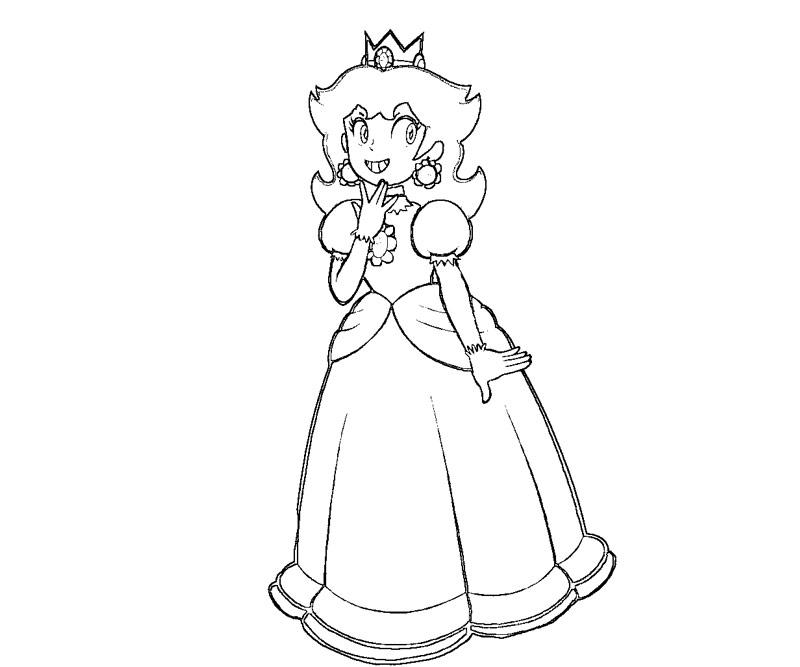 Random Princess Coloring Pages : Free baby princess daisy coloring pages