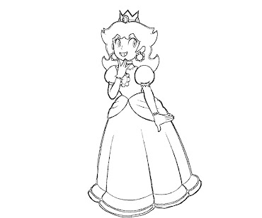 #5 Princess Daisy Coloring Page
