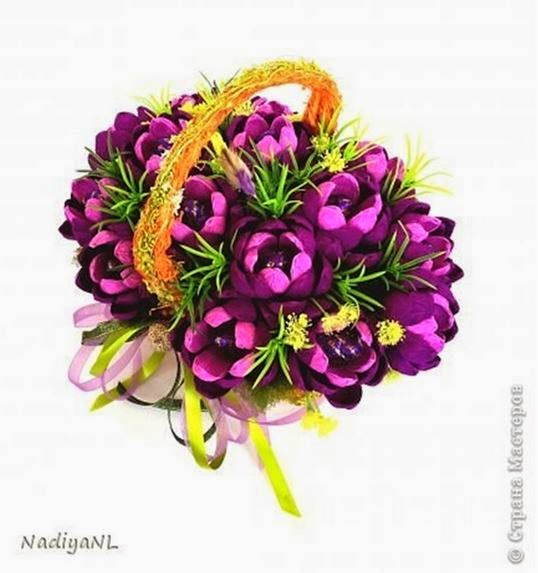 DIY Chocolate Flower Bouquet - The Idea King
