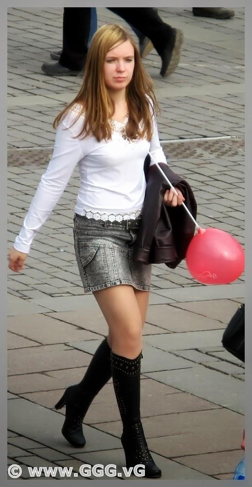 in skirt on the vs