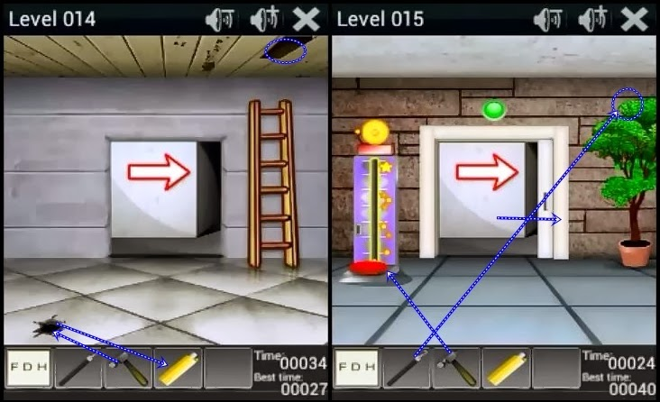100 doors 2014 walkthrough level 11 12 13 14 15 16 17 18 for Door 4 level 13