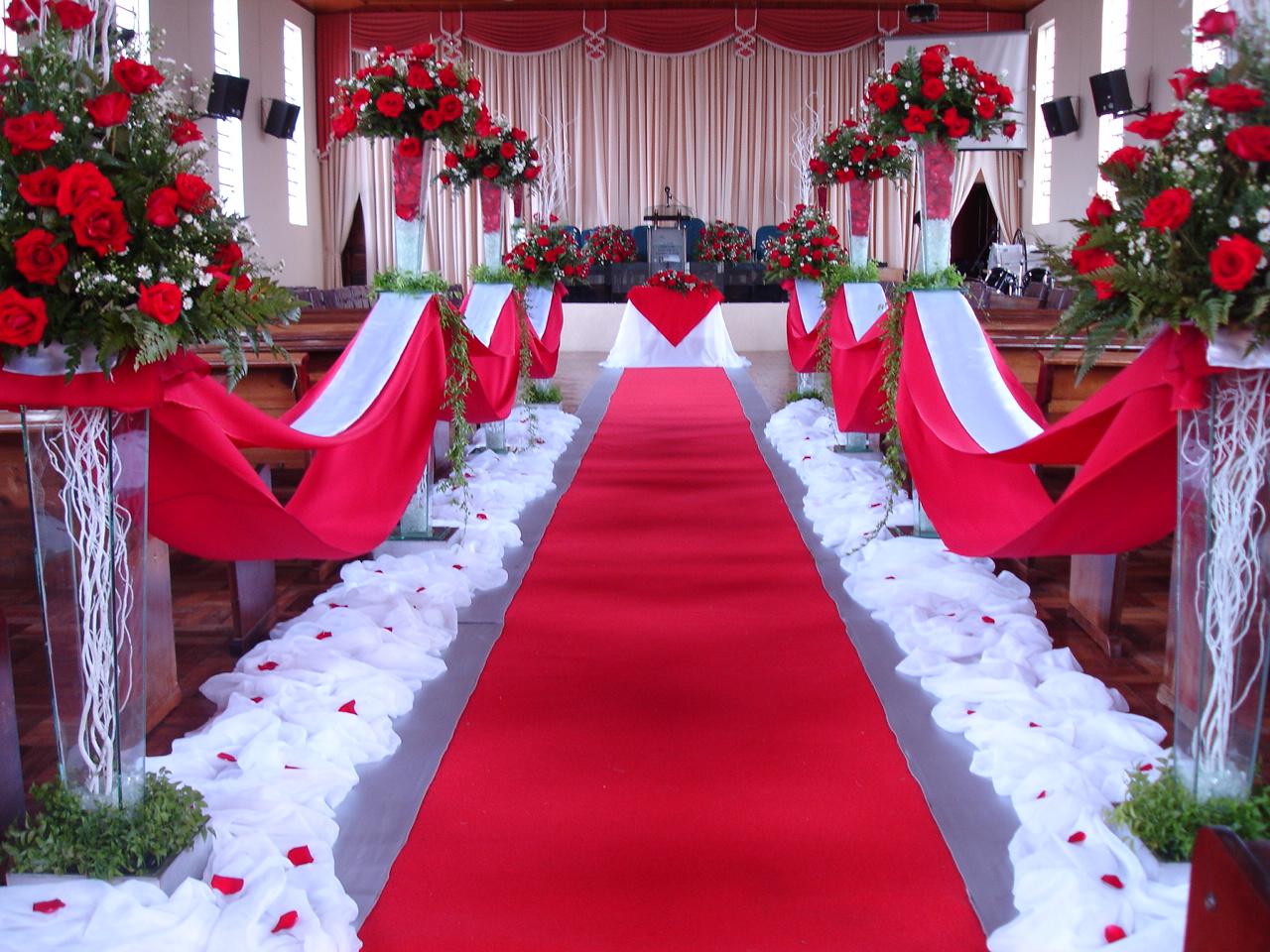 Personalité Eventos Casamento Vermelho e Branco